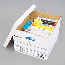 趣味グッズやおもちゃ、思い出の品の保管に!*丈夫な紙製箱バンカーズボックス3個入
