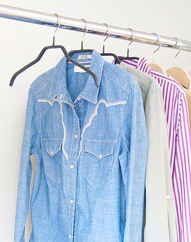 ブラウスやシャツに最適&襟元をキレイにキープ*すべらないマワハンガー36 2本入